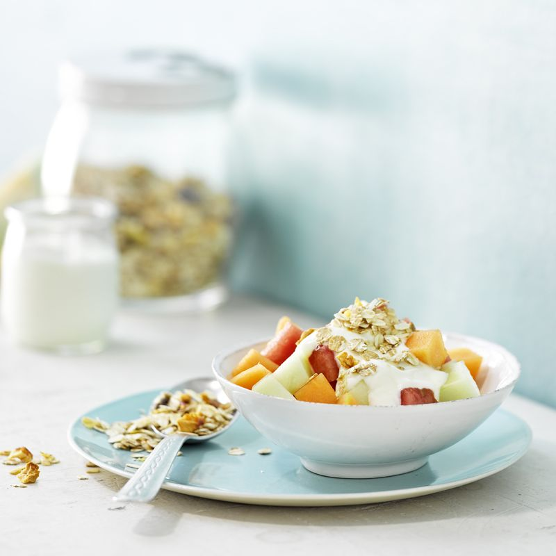 Joghurt Musli Mit Powermelone Rezept Rezepte Ww Fruhstuck Weight Watcher Fruhstuck