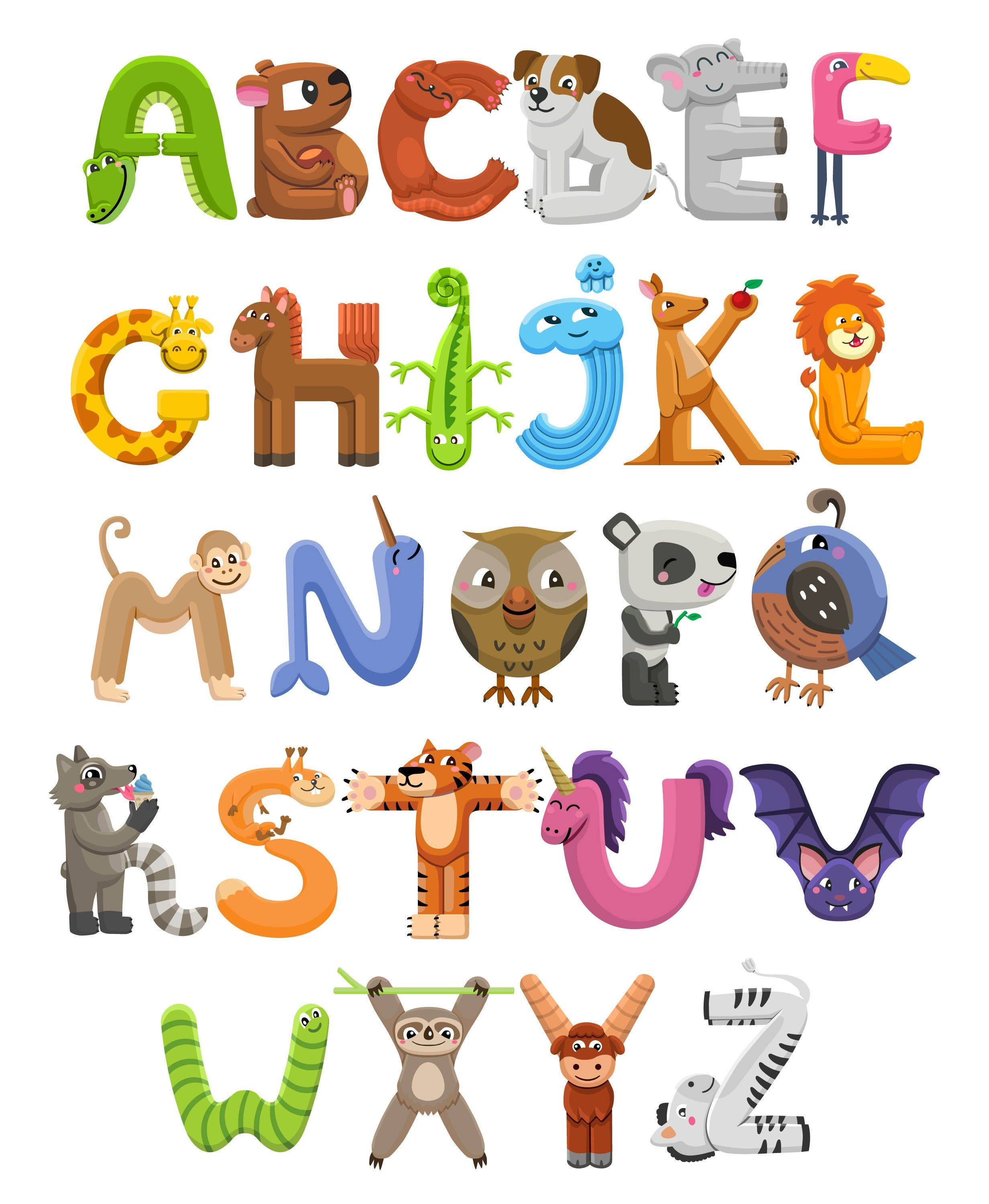 Abc Poster 16 X 20 Zoo Animals Nursery Alphabet Abc Wall Etsy In 2020 Animal Alphabet Letters Lettering Alphabet Animal Alphabet