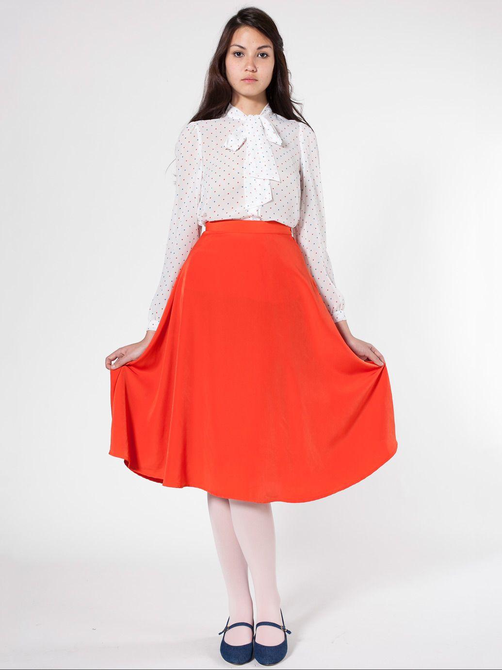cfa4bf5fb American Apparel - Mid-Length Circle Skirt   Miscellaneous ...