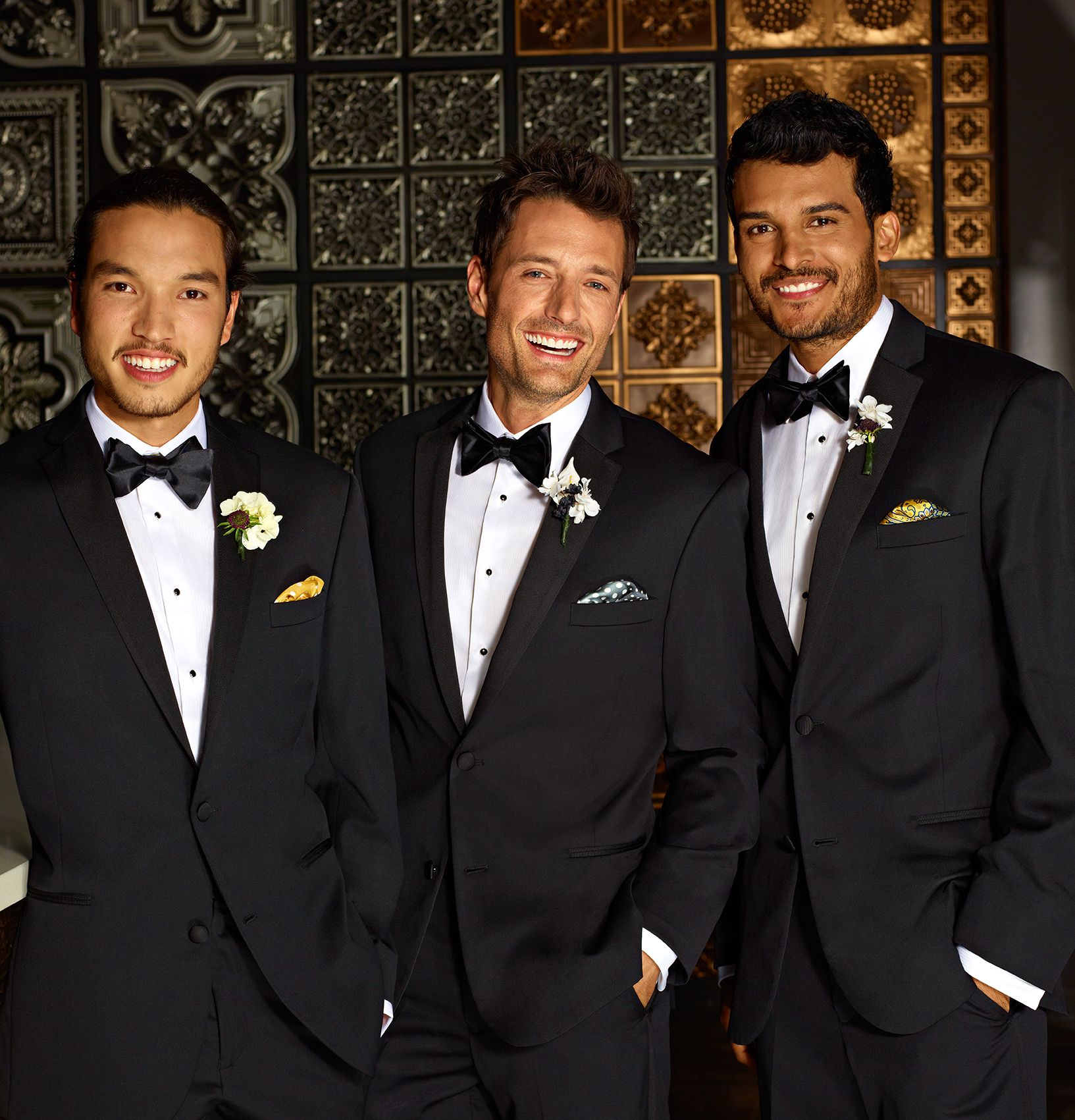 50fc56cbdadc6 Make the groom stand out with small details like a different colored tie or pocket  square.