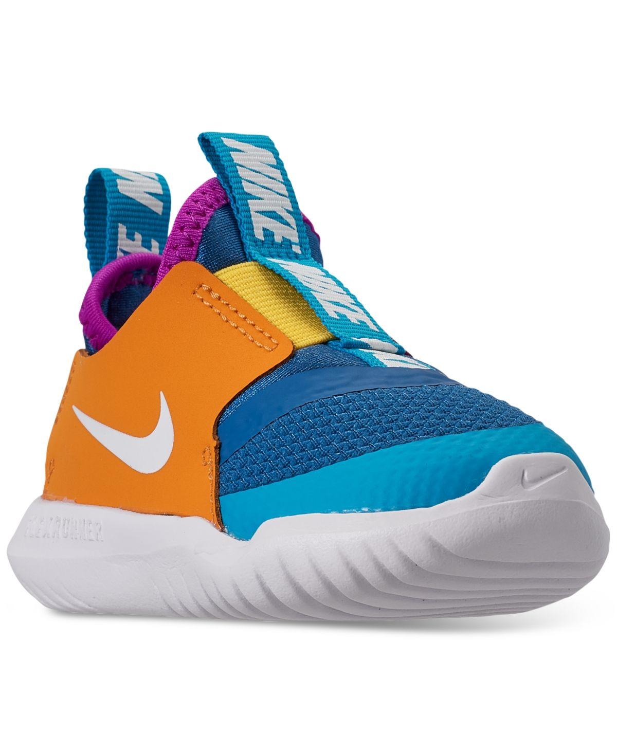 Nike Toddler Boys Flex Runner Slip On Athletic Sneakers From Finish Line Mountain Blue White Lt Cu Athletic Sneakers Nike Kid Shoes