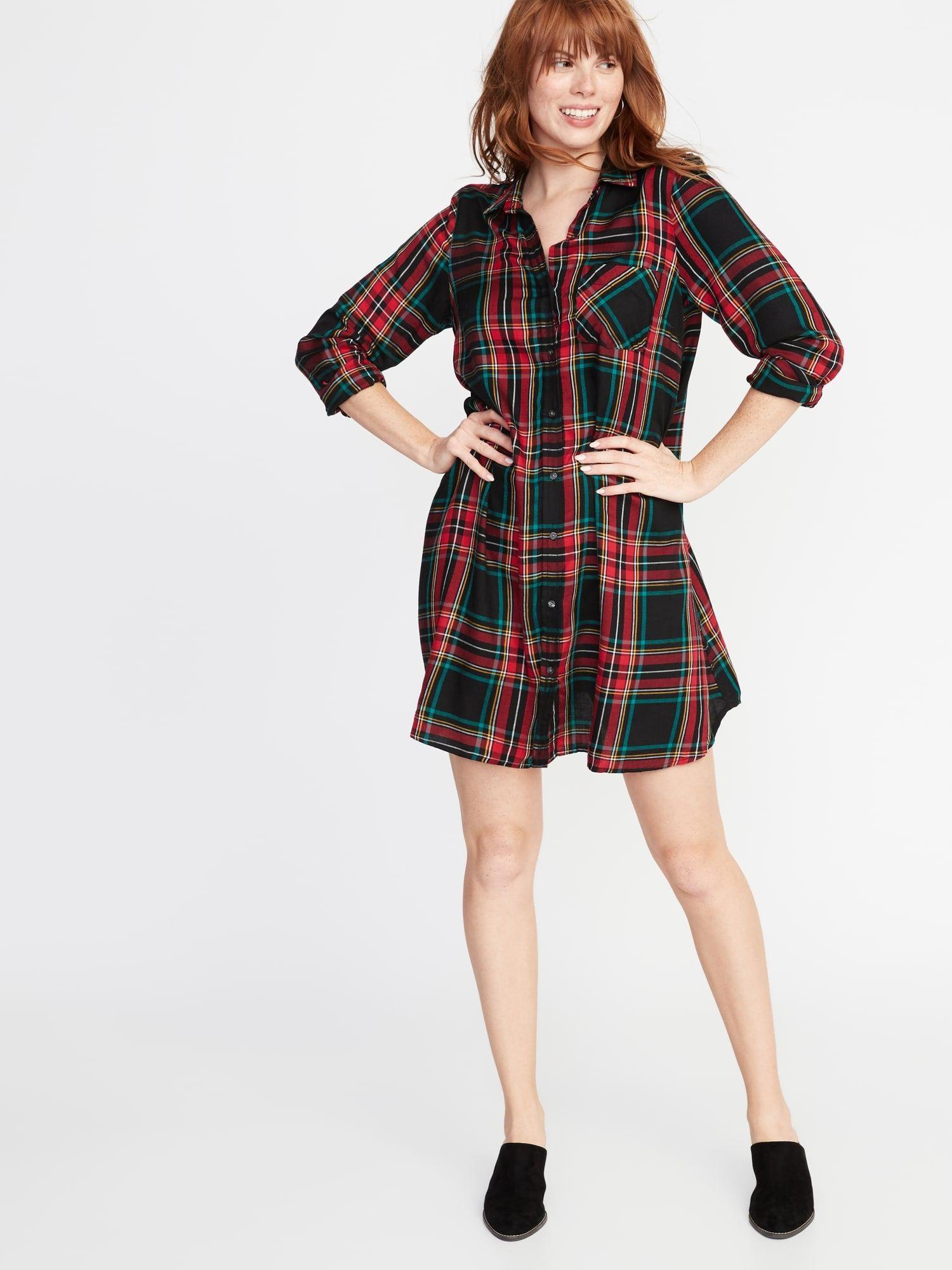 7b325a8b6dc34 product Plaid Dress, Box Pleats, Plaid Pattern, Point Collar, Gap, Scottish