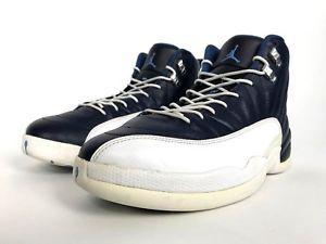 wholesale dealer c2b70 8821e Nike Air Jordan Retro XII 2012 Obsidian 130690-410 UNC North Carolina Blue  Sz 12