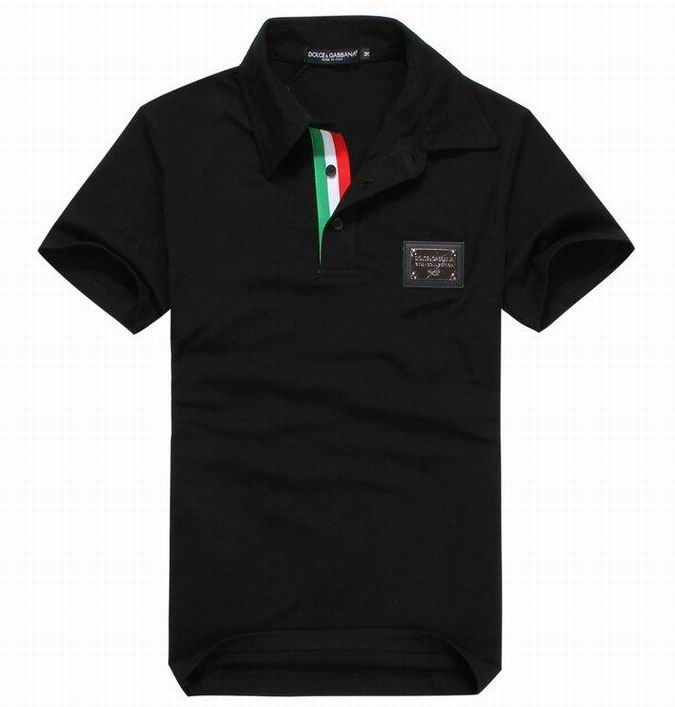 Dolce Gabbana Polo Shirt with Logo Plaque Black   Men s Wear   Dolce ... 78fcabae2d9c