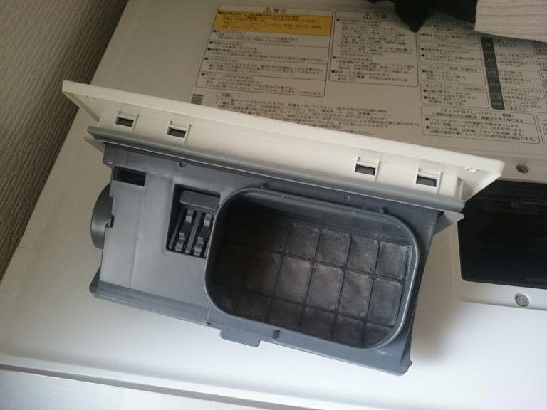 ドラム式洗濯機の乾燥フィルターを掃除して気づいた埃汚れをまた掃除