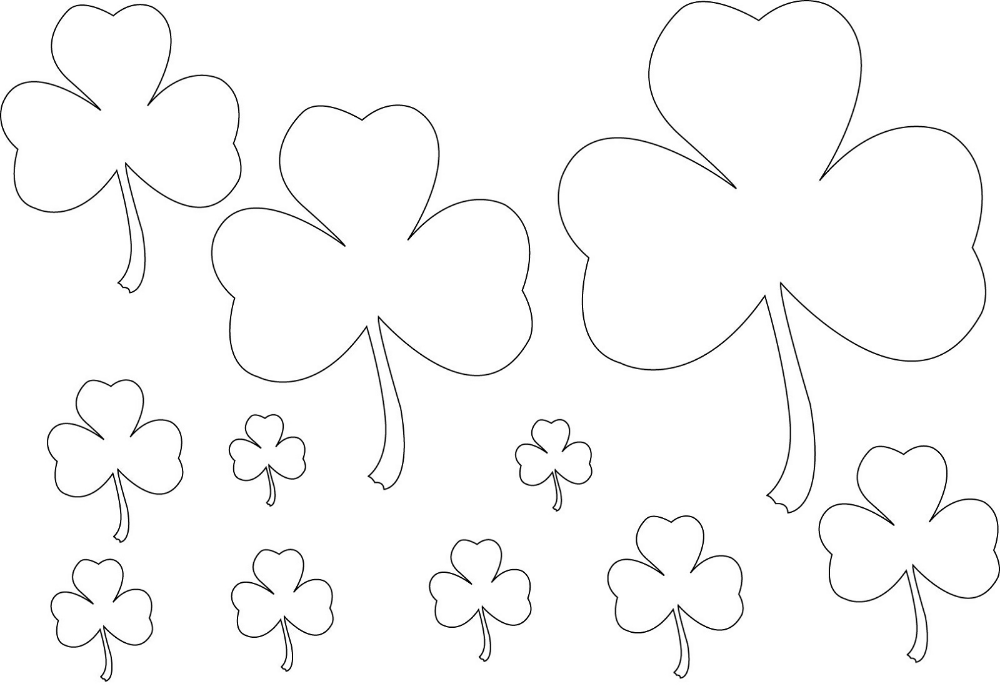 Shamrock Coloring Page Coloring pages, Halloween