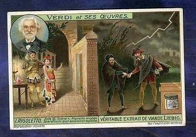 Chromo Liebig S1082 Opera Verdi Rigoletto Sparafucile Old Trade Card Figurine