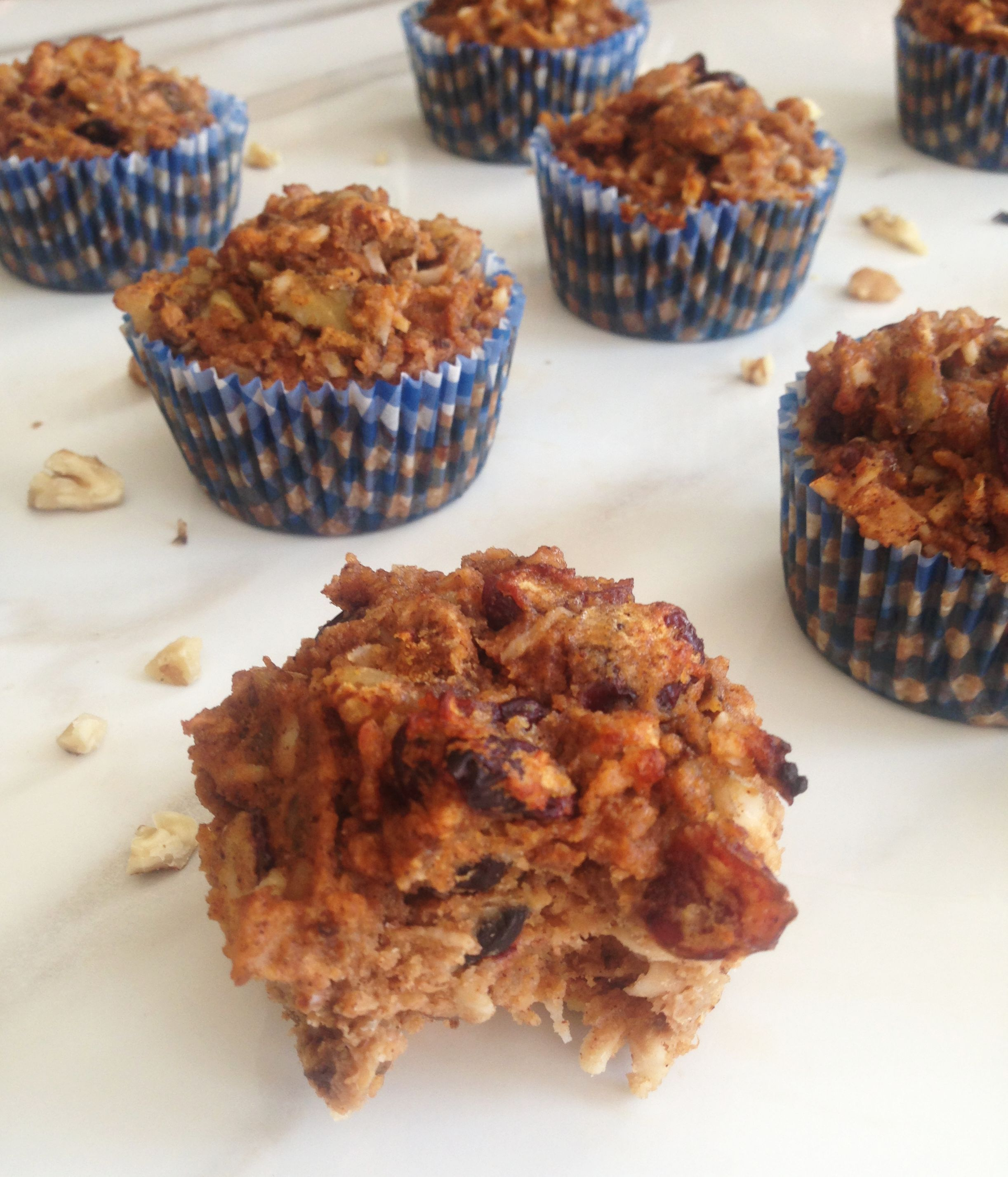 My version of Morning Glory Muffins w/ coconut, pumpkin ...