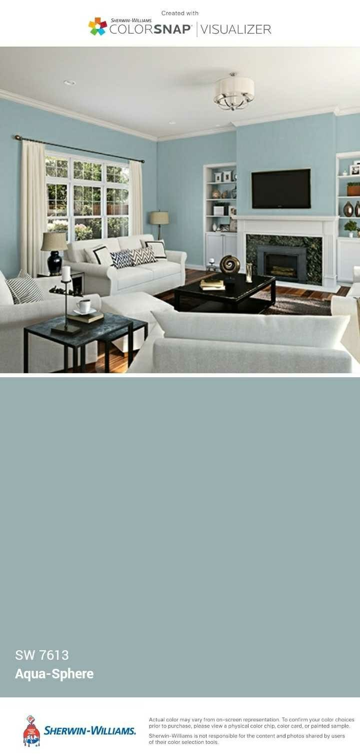 Bo S Office Sherwin Williams Aqua Sphere Home Home Decor Living Room Colors