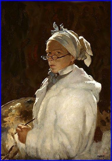 William Orpen Auto-portrait  1907 Huile sur toile 77 x 56 cm Arts Centre Mildura, Victoria, Australia..jpg