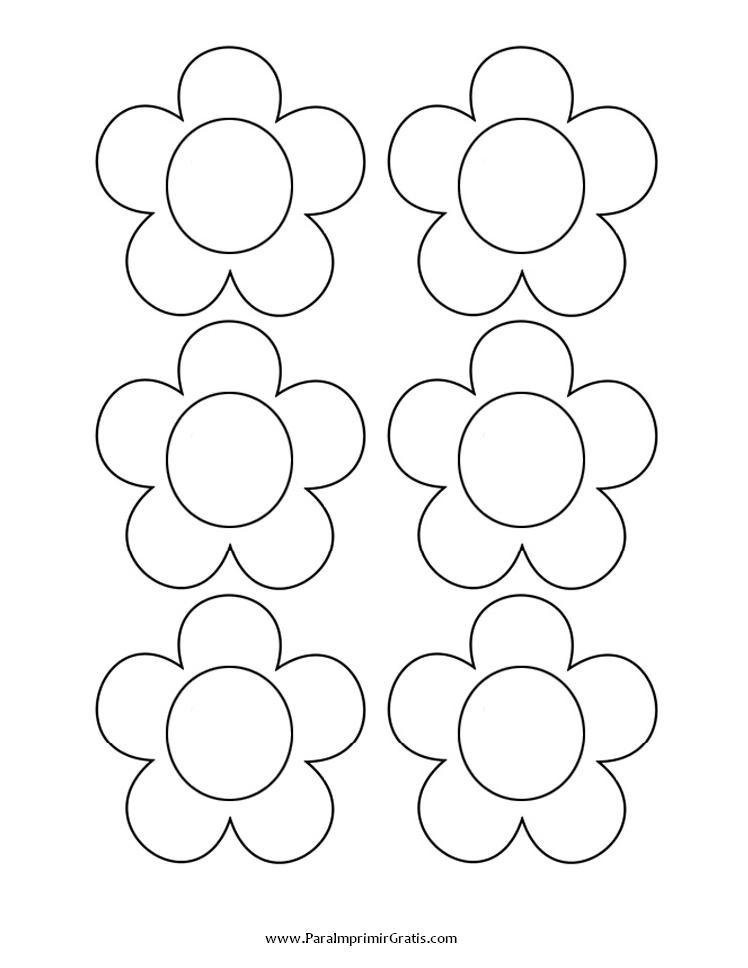 Flores Para Colorear Y Recortar - AZ Dibujos para colorear | keçe ...