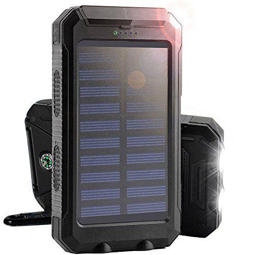 Solar Charger 8000mah Rain Resistant Solar Power Bank Portable Shockproof Solar Battery Solar Battery Charger Solar Charger