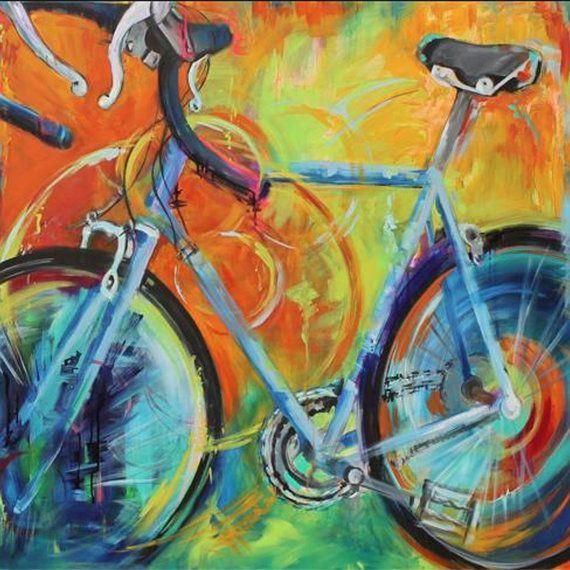 Brand-new Bicycle Art, Pop Art, Cycle Art, Colorful Bike, Bike Painting  FS84