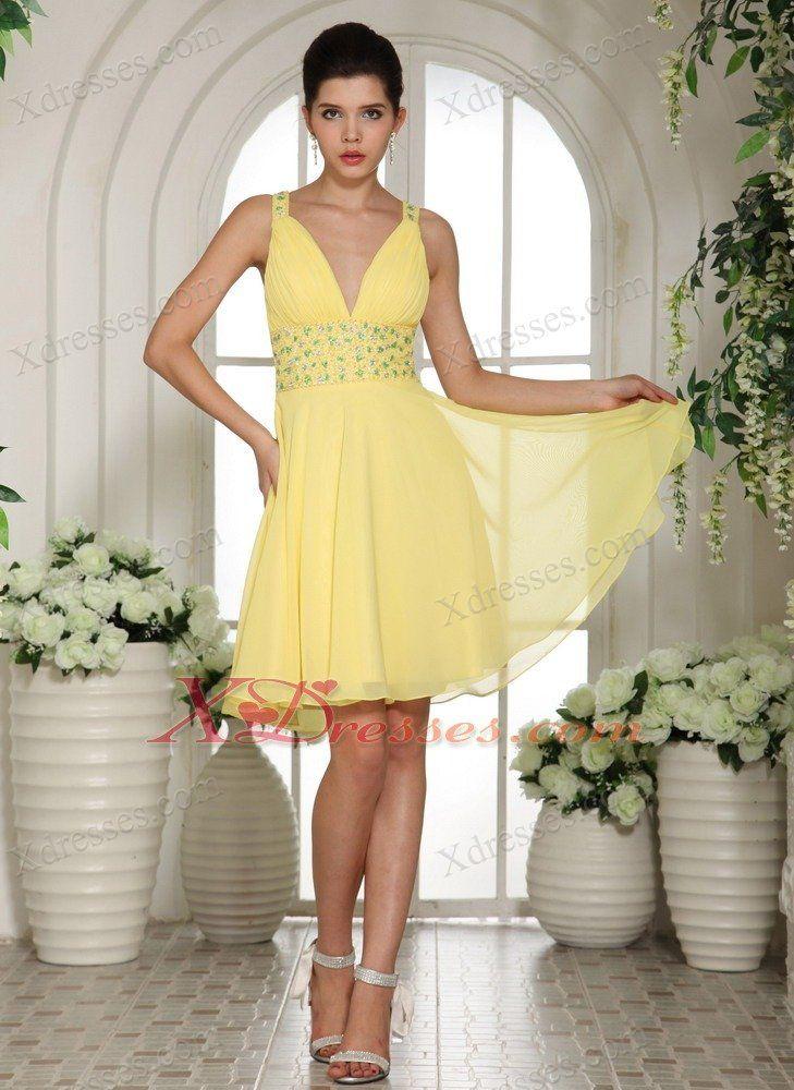 Short v neck cocktail dress