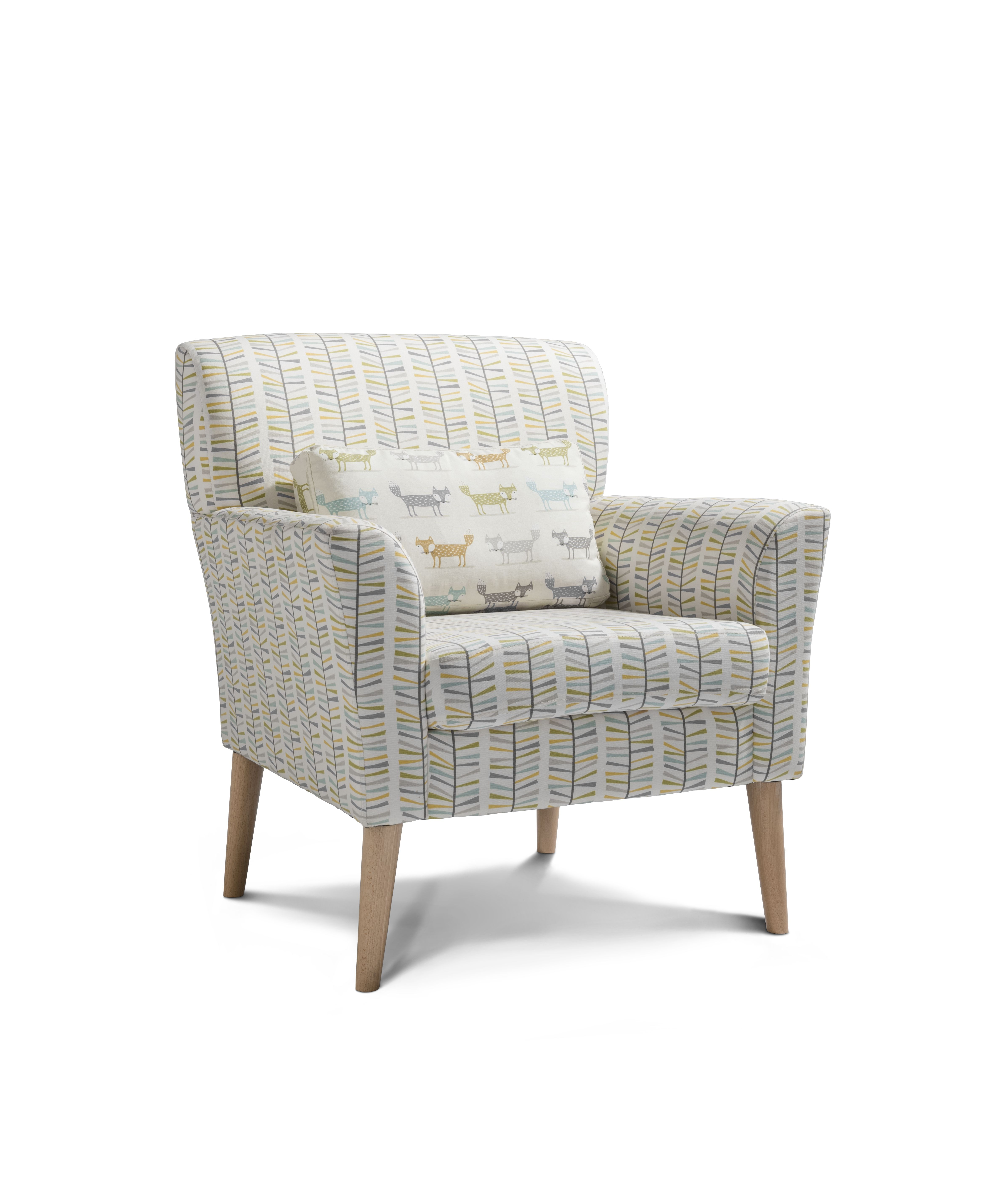 Norton accent chair malmo in teal accent chairs small
