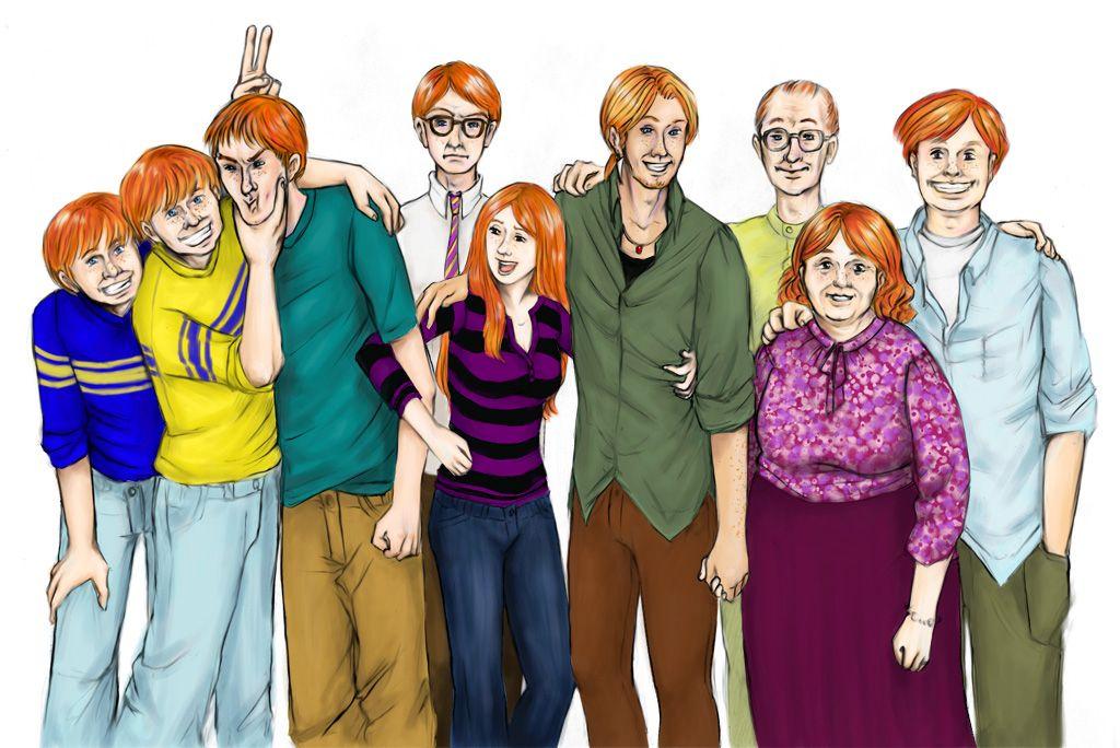 the weasley family fan art | Weasley Family portrait by ...