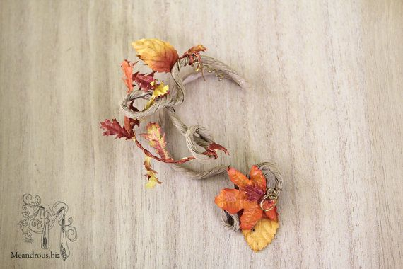 Autumn Ear Wrap Reduced Price Unique Ear Jewelry by Meandrous, $15.00