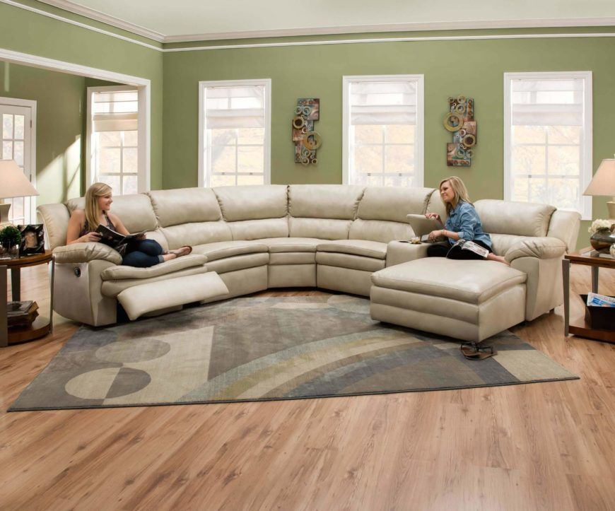 25 Contemporary Curved And Round Sectional Sofas Leather
