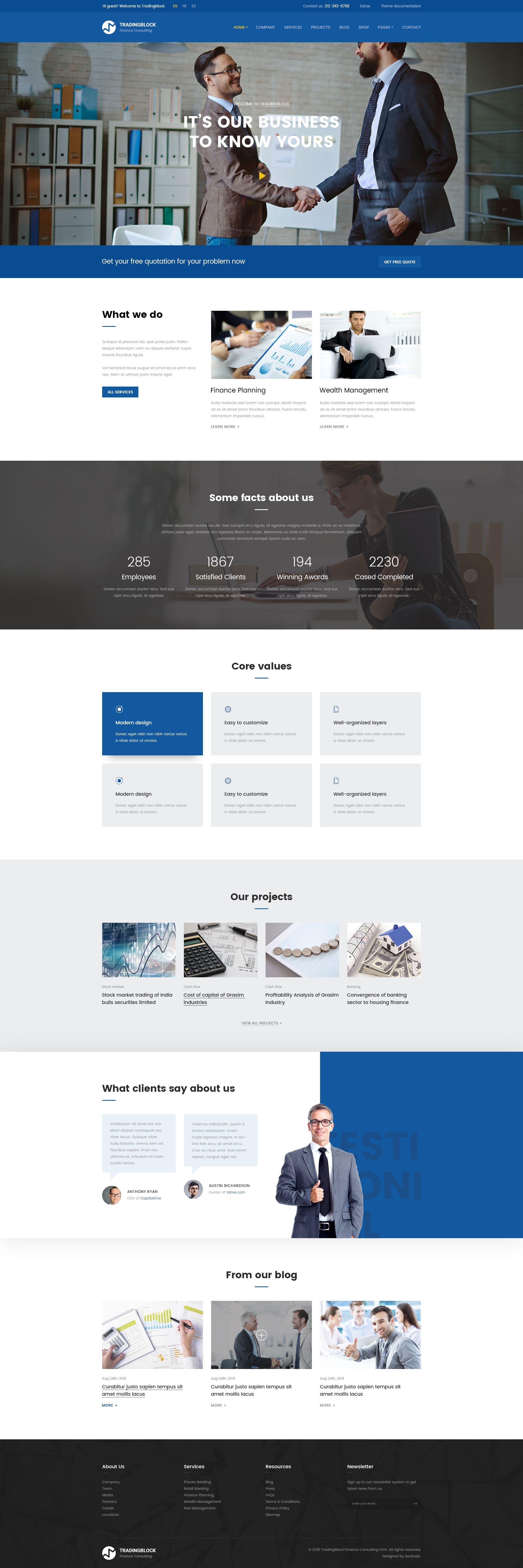 Finance Business Psd Template Tradingblock Business Website Layout Business Web Design Corporate Website Design