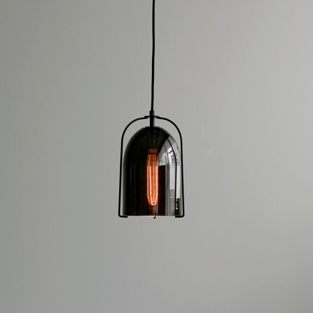 Black glass bell pendant light with black frame lighting pinterest black glass bell pendant light with black frame mozeypictures Images