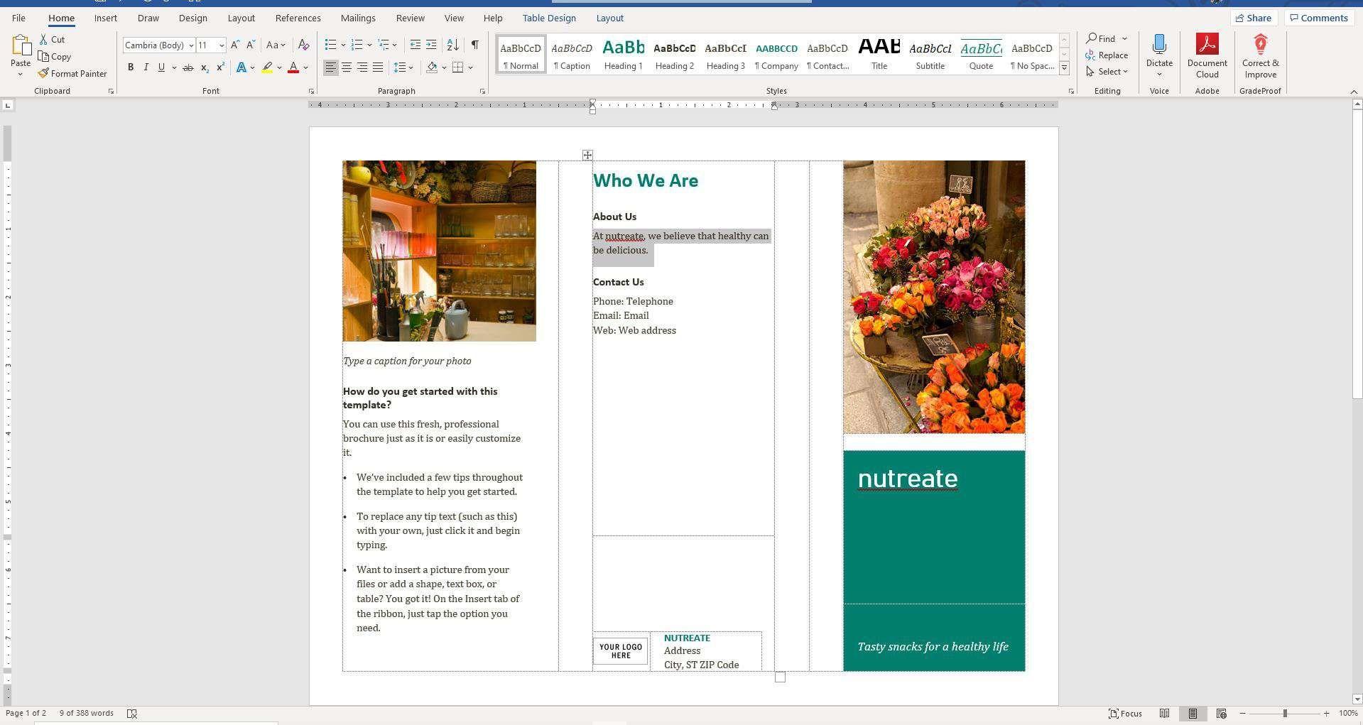 How To Make A Brochure On Microsoft Word in Microsoft Word