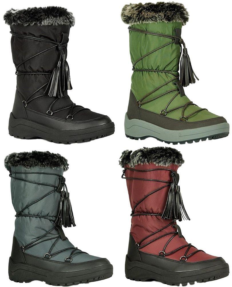 0bb2c9ba8e7 Alaska-01 Women Knee High Faux Fur Winter Snow Moon Boots  fashion  clothing