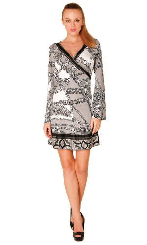e9a3d253a95748 Hale Bob Women's Grey P.O.S.H. Sailing Mock Wrap Dress #workdresses ...