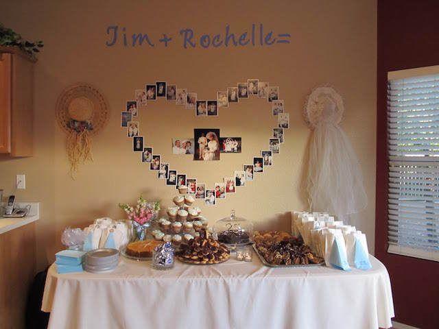 Bodas de plata decoraci n con fotos en forma de coraz n - Decoracion para bodas de plata ...