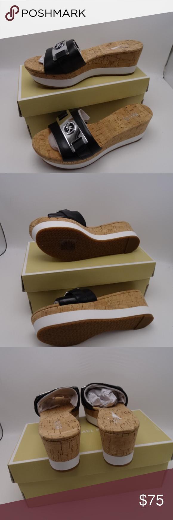a5b22313679 MICHAEL Michael Kors Warren Platform Slide Sandals Modern MK logo hardware  pairs with a retro-