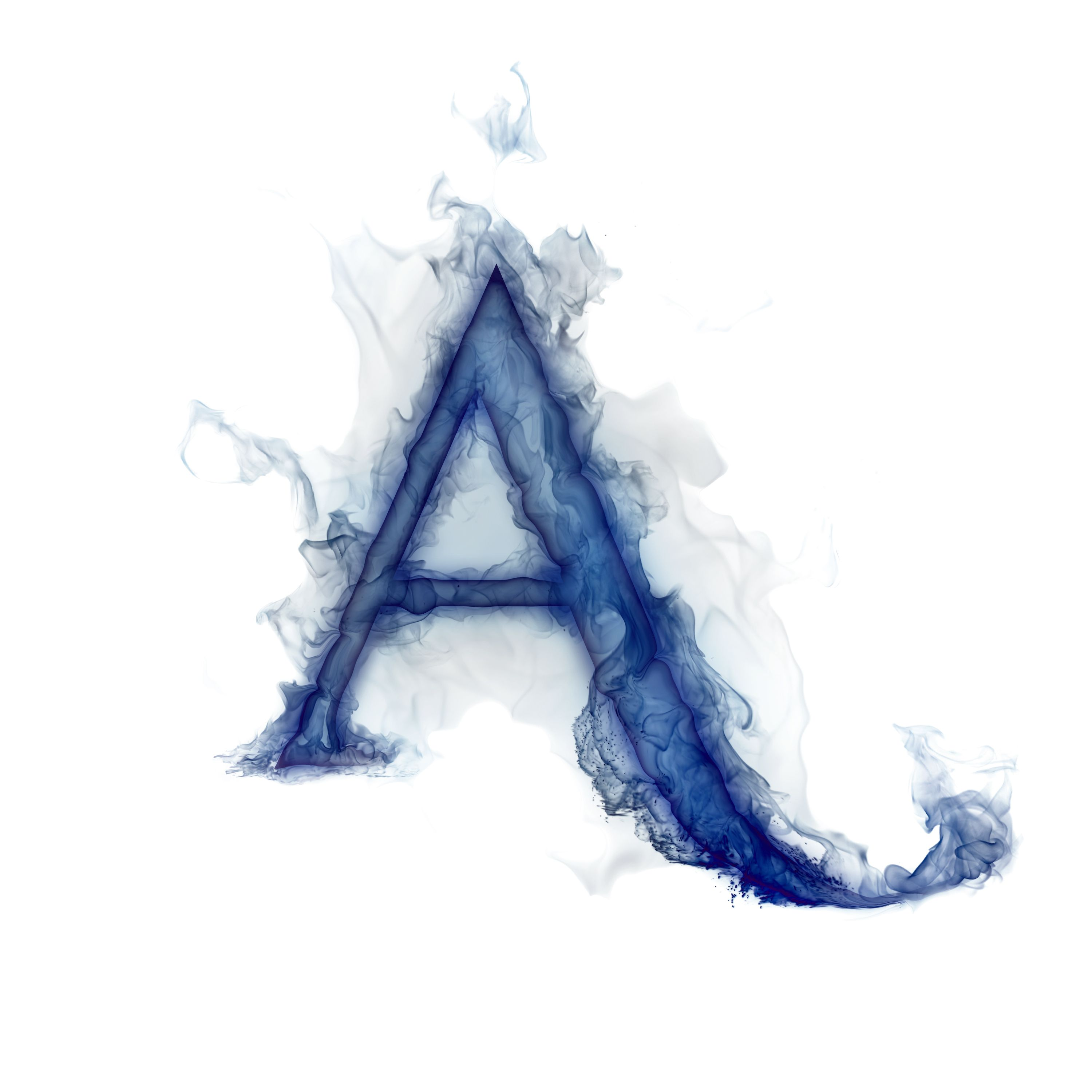 Cute Wallpapers First Initial Letter A Smoke Alphabet Google Search Tattoos Cool Fonts