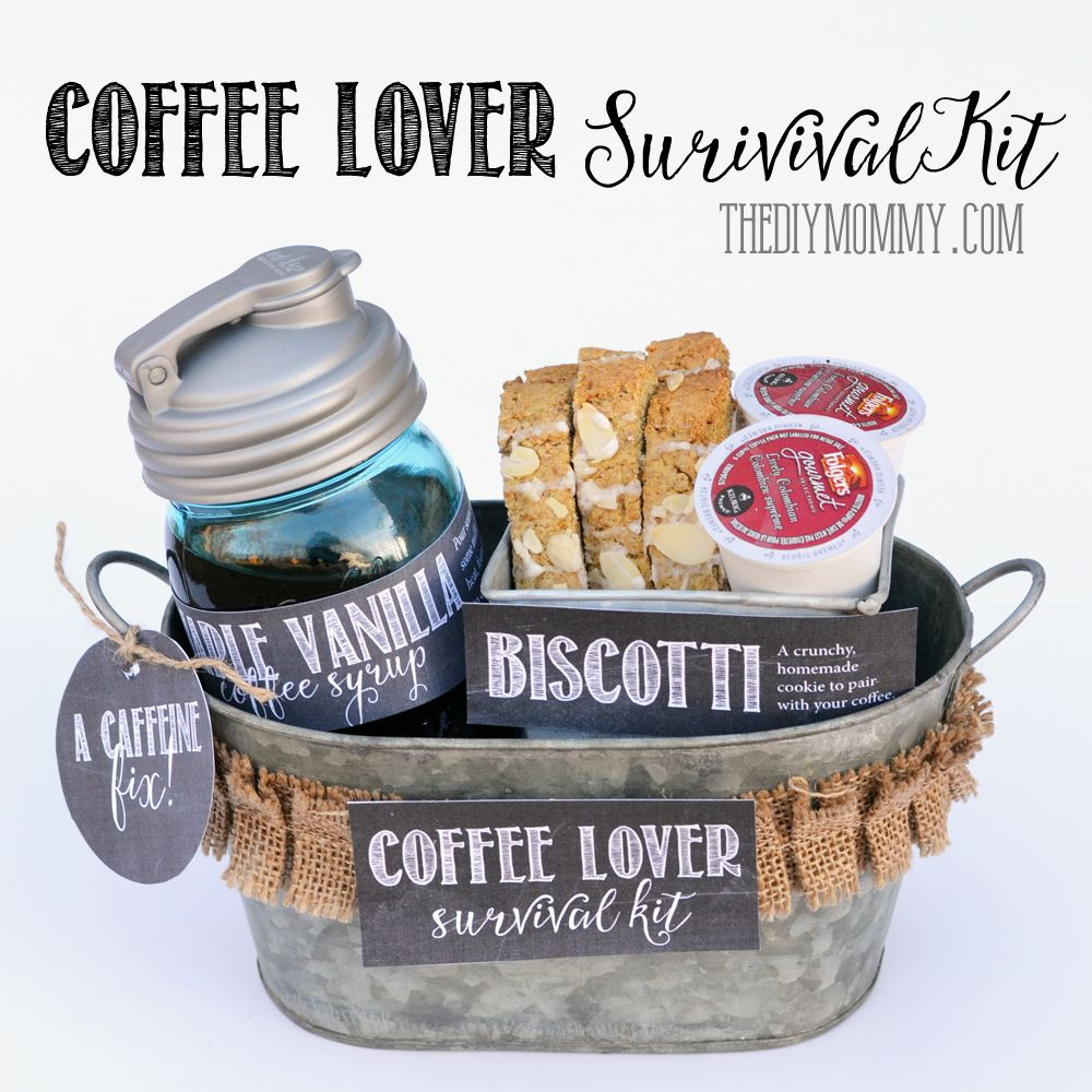 A gift in a tin coffee lover survival kit the diy mommy Christmas gift ideas for cooking lovers