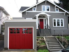 Contrasting Paint Colors Perfect Match Exterior Paint Colors For House House Paint Exterior Red Door House