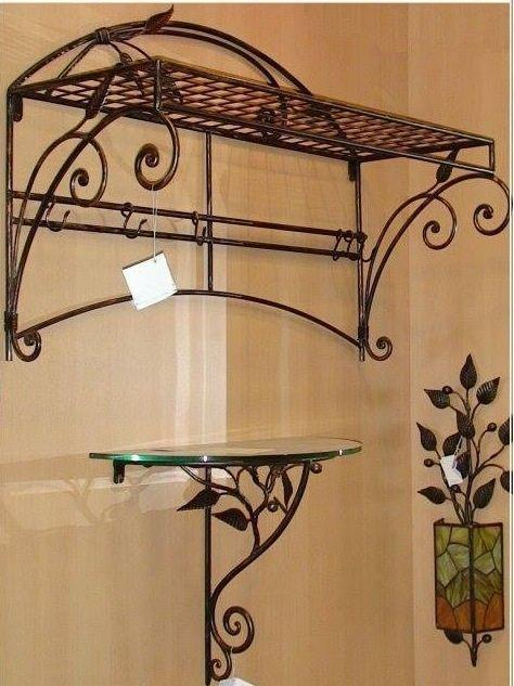Percheros estantes en hierro ideas en metal pinterest - Percheros de hierro ...