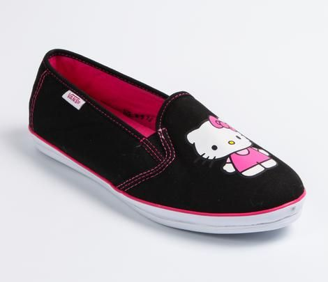 That's my next pair of shoes. VANS x Hello Kitty Authentic Slip-on: Black