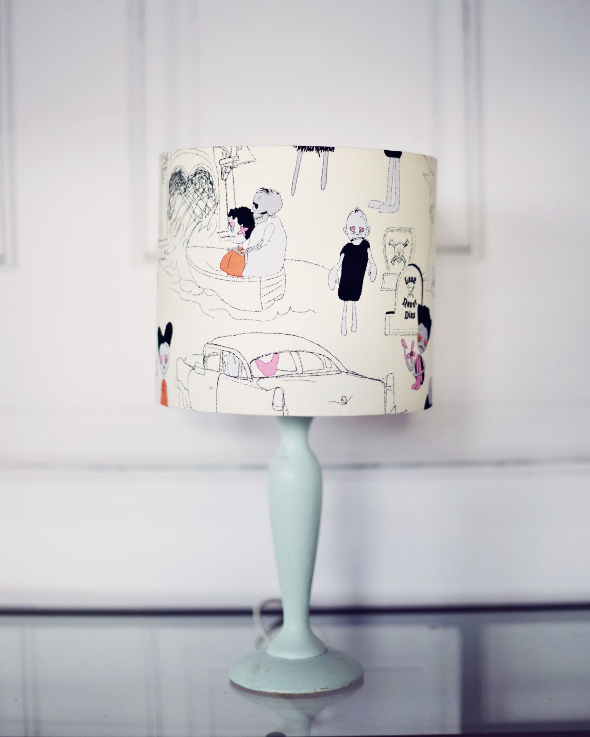 Handmade lampshade zombie lamp shade geeky home decor geeky gift excited to share the latest addition to my etsy shop handmade lampshade zombie aloadofball Images
