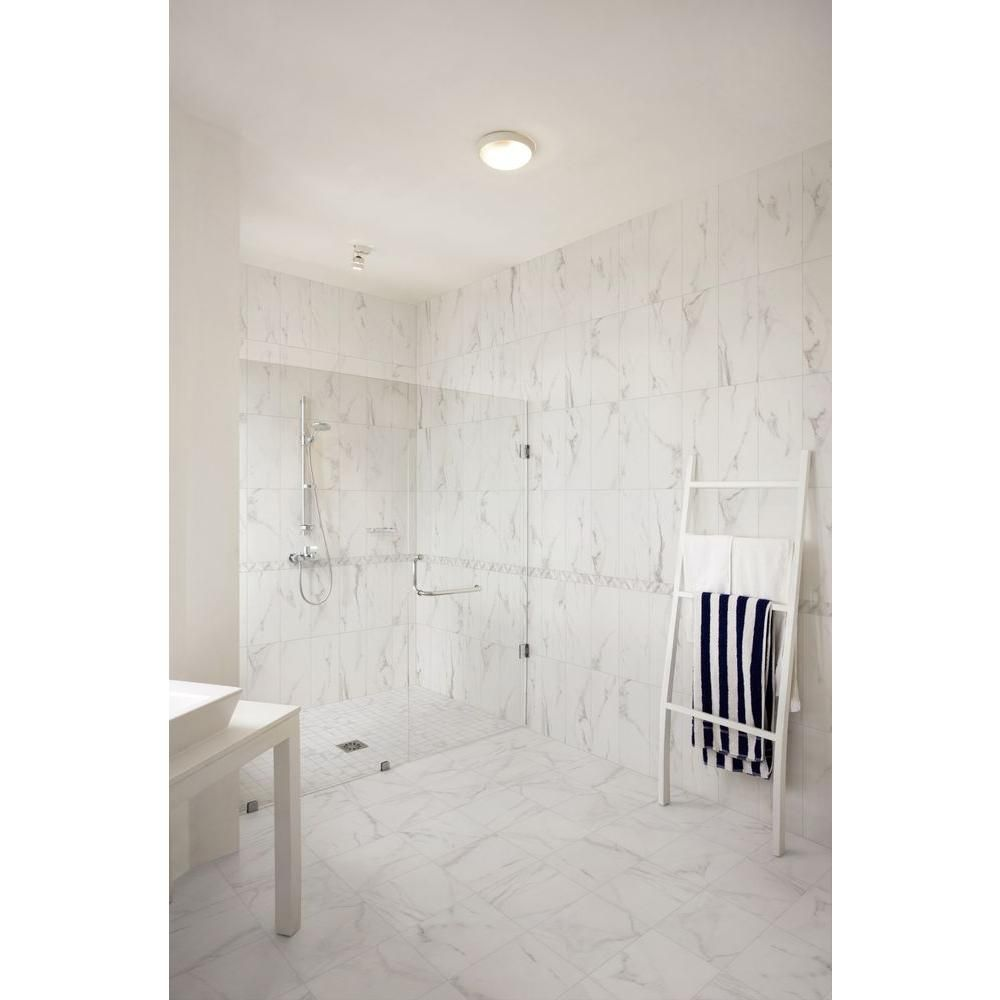 Wall Tile For Bathrooms: Florida Tile Home Collection Michelangelo White 9 In. X 18