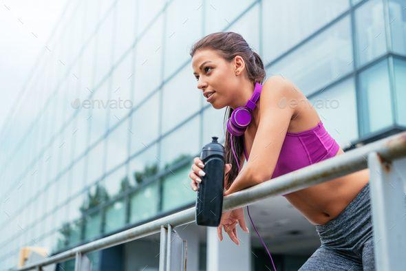 Break from fitness by bernardbodo. Attractive girl making a break from fitness. #AD #bernardbodo, #f...