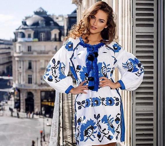 56ad10fbac0b2a Ukrainian vyshyvanka dress Ukraine embroidery women Embroidered dresses  custom Boho clothing Vishiva