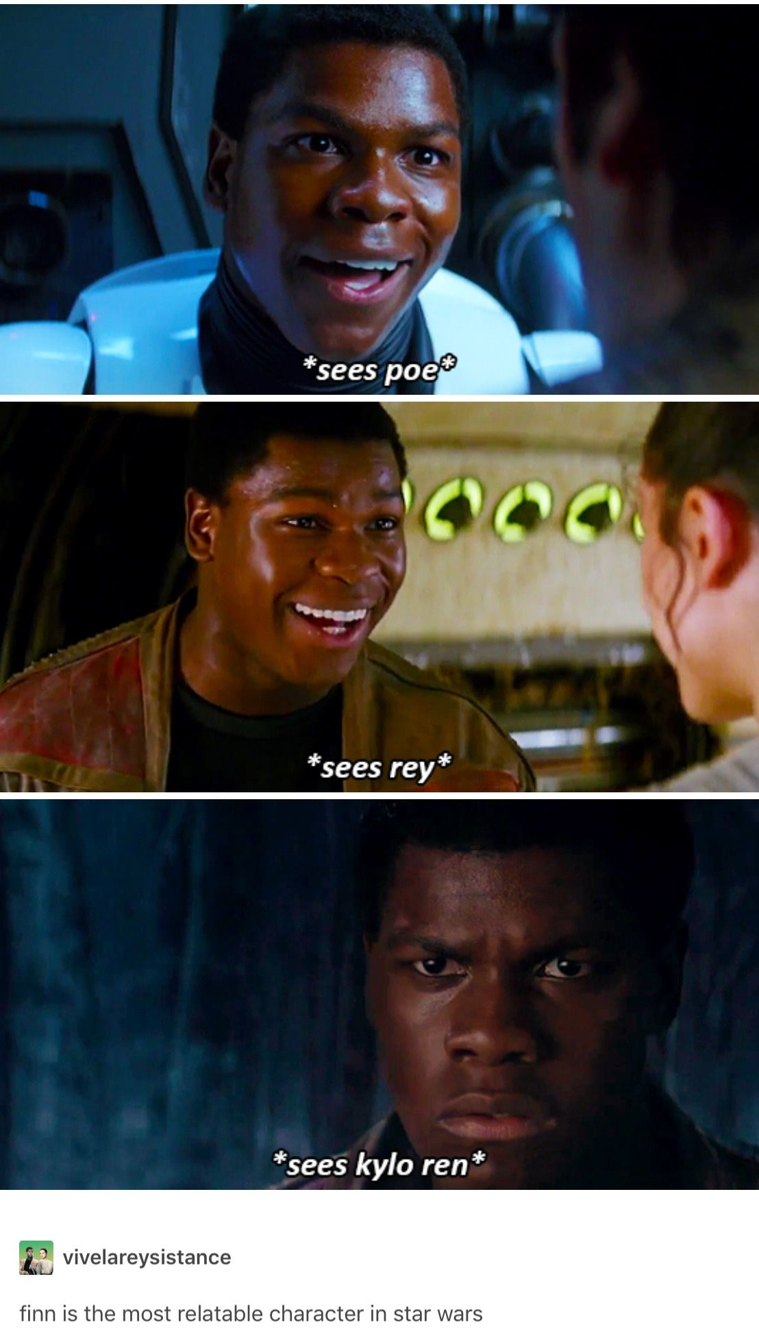 I Know The Feeling Finn Star Wars Humor Star Wars Fandom Star Wars Memes