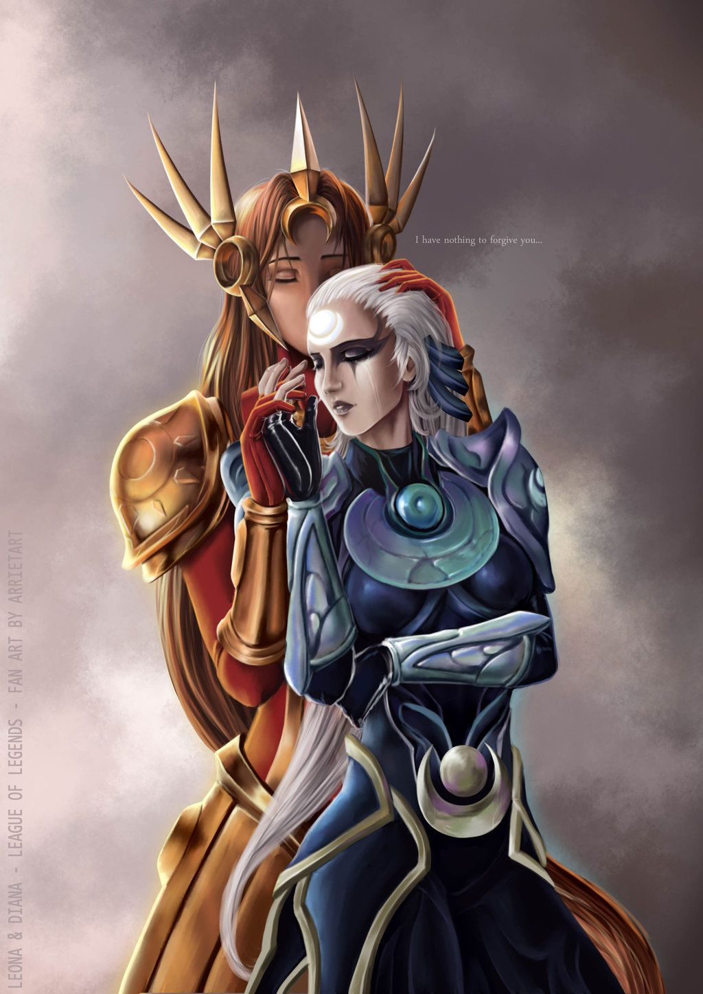 Leona x Diana League of Legends by Arrietart | Diana ...