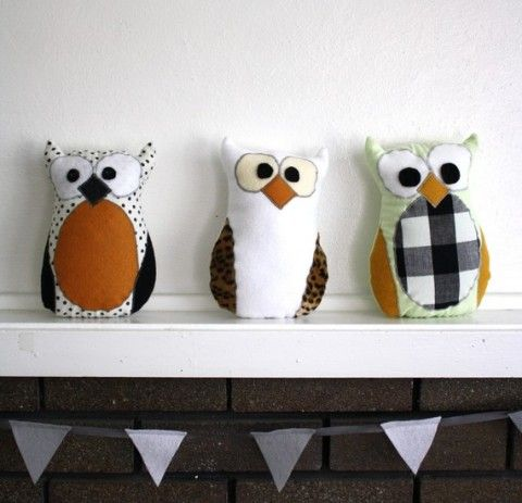 Diy Stuffed Owls They Are Too Cute Gifts Crafts