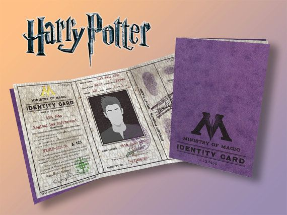 Ministry Of Magic Identity Card Ministry Of Magic Cards Stationery Set