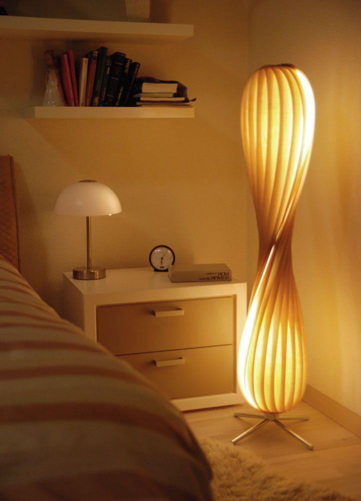 Rattan Steh Leuchte Designer Stehlampe Bodenlampe 150cm Handarbeit