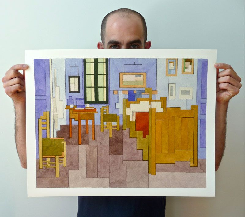 Fantastic Art and Where To Find Them Friday: 8-bit Inspired Paintings of Iconic Images