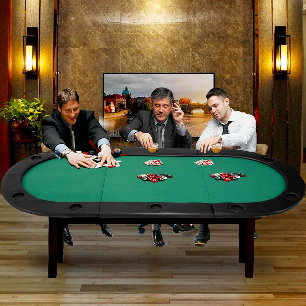 Details about 79x36 8 players texas holdem foldable