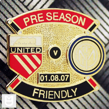 UNITED v INTER MILAN FRIENDLY Match Badge 200708 RB The