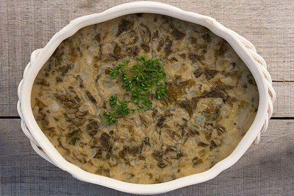 """""""Soup Meagre"""" from """"History is Served"""" - """"This soup was made with Lent in mind as there is no meat. Almost as thick as a chowder, this wholesome dish is wonderfully aromatic and pleasing to the eye in any season."""""""