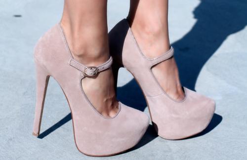 Blush Mary Jane Platforms...need these