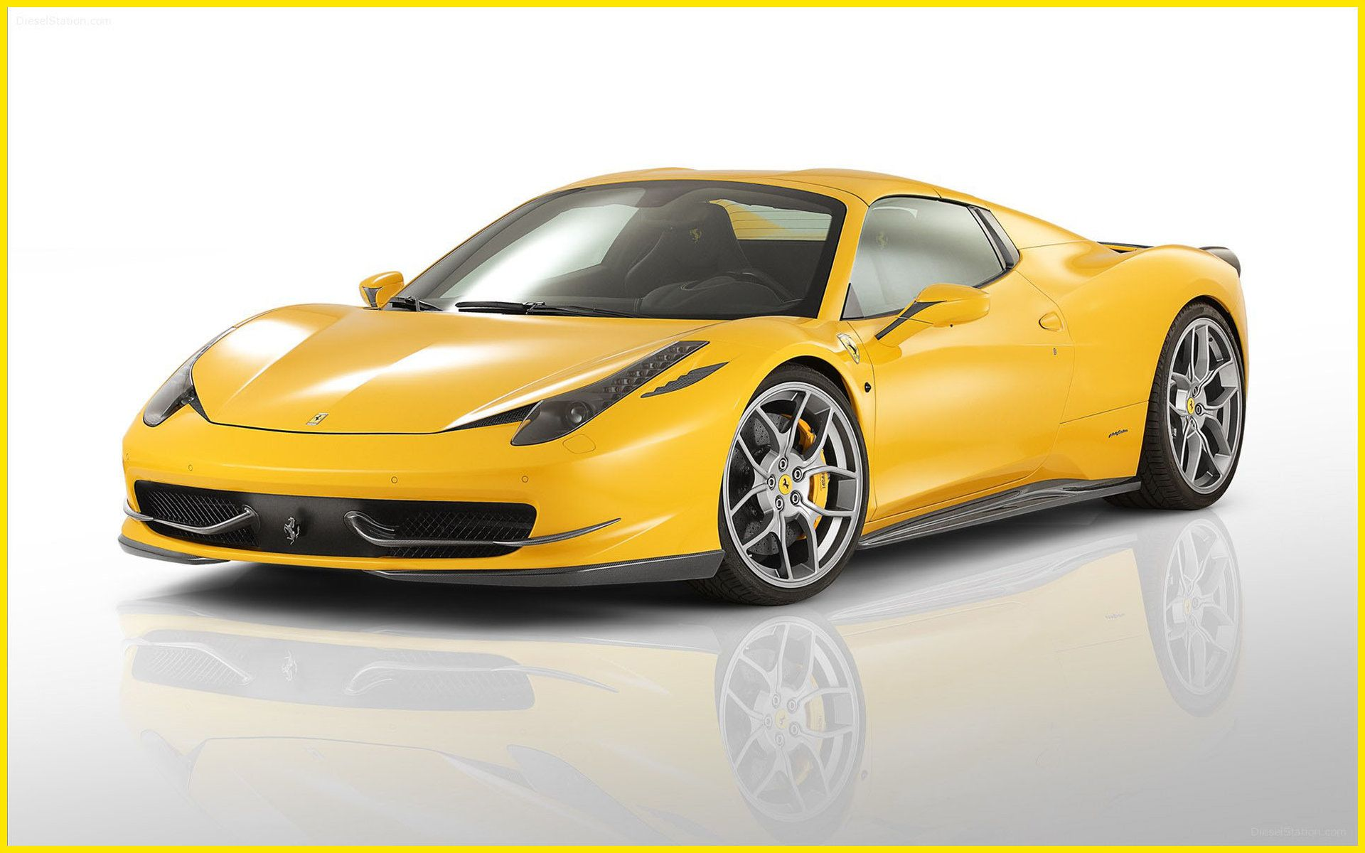 Yellow Ferrari 458 Spider Wallpaper Widescreen