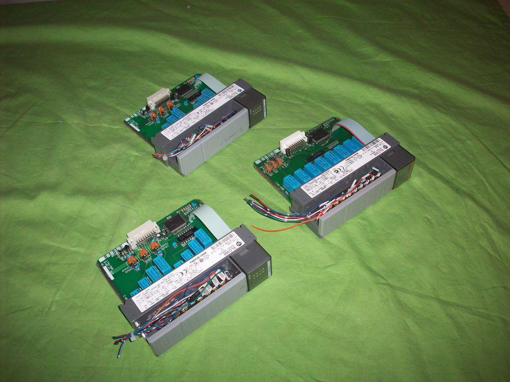Qty. 3 Allen Bradley SLC500 Input Modules 1746OW8 PLC